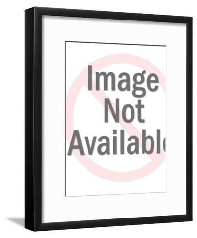 Sexy Santa Woman Carrying Toys and Checking List-Pop Ink - CSA Images-Framed Art Print
