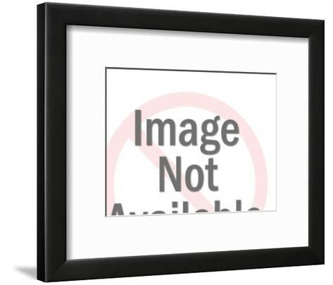 Man and Woman Singing into Microphone-Pop Ink - CSA Images-Framed Art Print