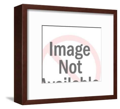 Man Begging for Bite of Woman's Sandwich-Pop Ink - CSA Images-Framed Art Print