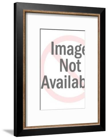 Emcee at Microphone-Pop Ink - CSA Images-Framed Art Print