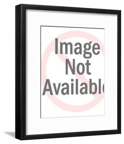 Man Standing in Water Fishing-Pop Ink - CSA Images-Framed Art Print