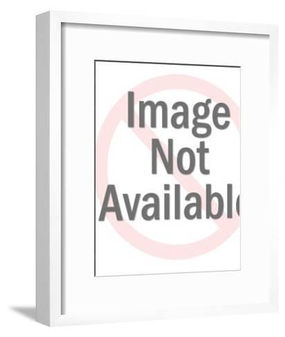 Flaming Skull-Pop Ink - CSA Images-Framed Art Print