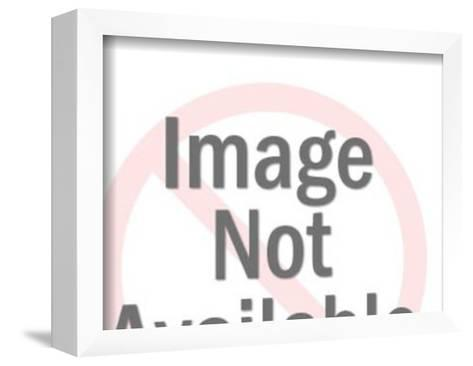 Woman in Bikini Sitting in the Sun-Pop Ink - CSA Images-Framed Art Print