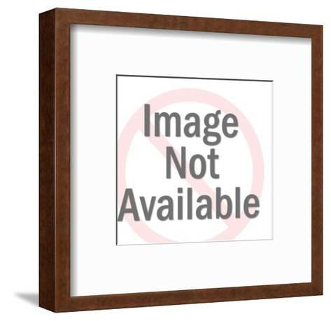 Waving Penguin-Pop Ink - CSA Images-Framed Art Print