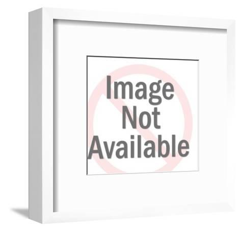 Man Driving Car-Pop Ink - CSA Images-Framed Art Print