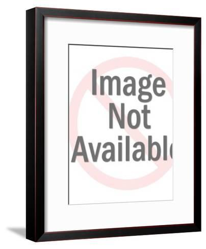 Woman Carrying Giant Item-Pop Ink - CSA Images-Framed Art Print