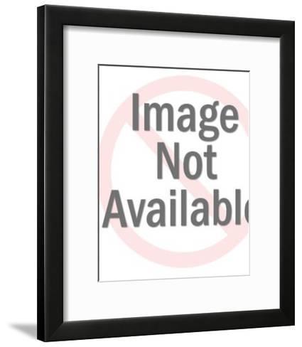 Man Pulling Lips up to Smile-Pop Ink - CSA Images-Framed Art Print