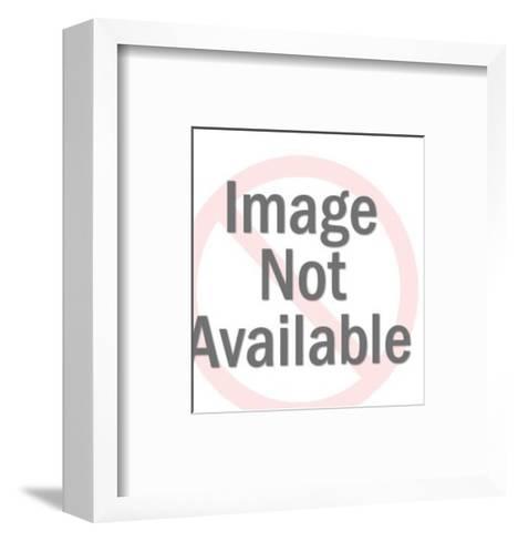 Man Speaking on Telephone-Pop Ink - CSA Images-Framed Art Print