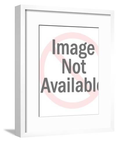 Man in Suit Smoking Cigarette-Pop Ink - CSA Images-Framed Art Print