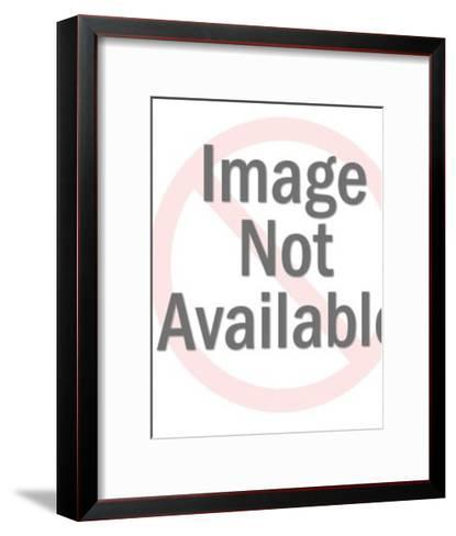 Family of Four Laughing at Television-Pop Ink - CSA Images-Framed Art Print