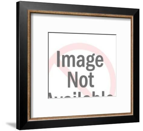 Smiling Man and Woman-Pop Ink - CSA Images-Framed Art Print