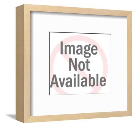 Frontiersman in Front of Log Cabin-Pop Ink - CSA Images-Framed Art Print