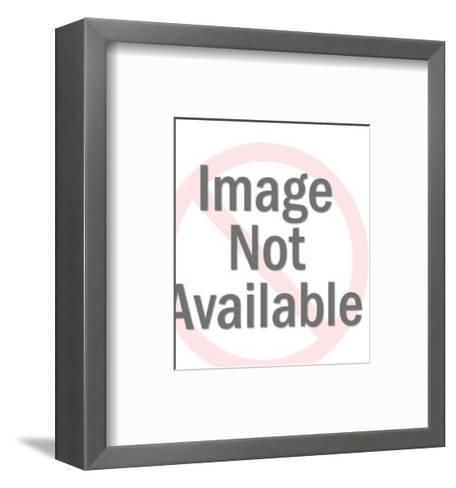 Santa Claus with Merry Christmas Sign-Pop Ink - CSA Images-Framed Art Print