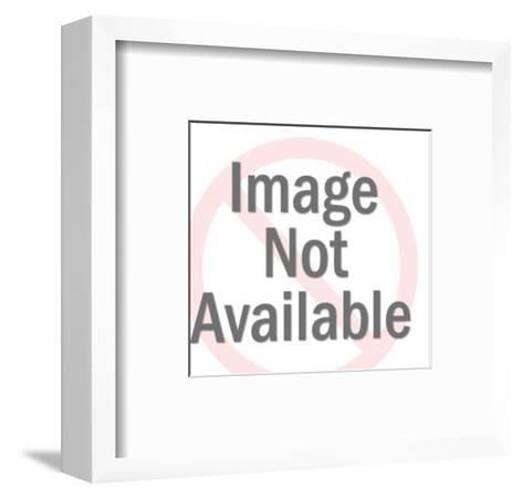Cowboy on Horse-Pop Ink - CSA Images-Framed Art Print