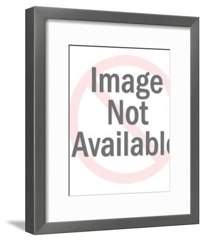 Baseball Player at Bat-Pop Ink - CSA Images-Framed Art Print