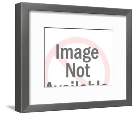Saluting Bellhop with Blank Sign-Pop Ink - CSA Images-Framed Art Print