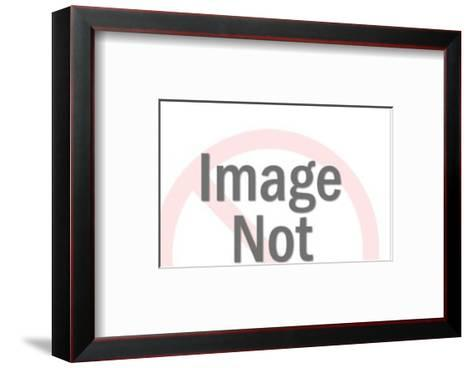 Eagle with Blank Banner on Crest-Pop Ink - CSA Images-Framed Art Print