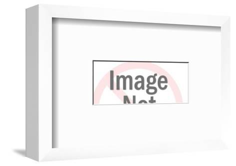 Train on Tracks-Pop Ink - CSA Images-Framed Art Print