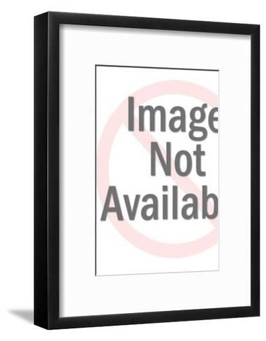 Stern Angel Pointing to the Side-Pop Ink - CSA Images-Framed Art Print