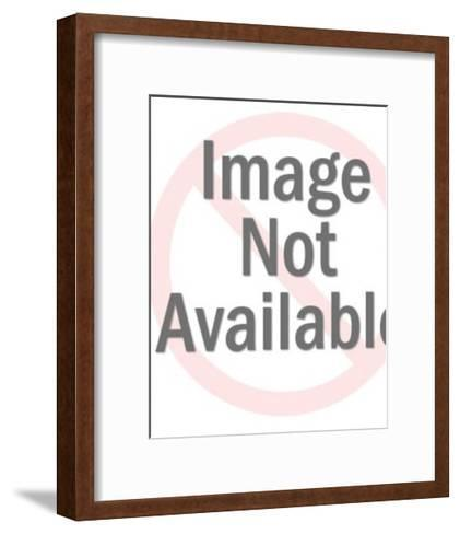Woman Wrapping a Gift-Pop Ink - CSA Images-Framed Art Print