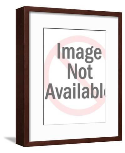 Two Men Walking and Talking-Pop Ink - CSA Images-Framed Art Print