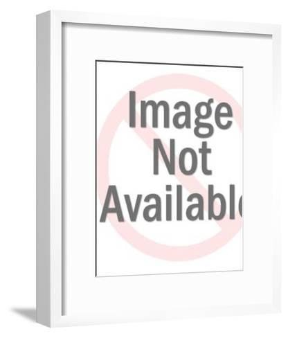 Smiling Man Carrying a Box-Pop Ink - CSA Images-Framed Art Print