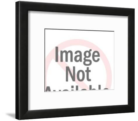 Man in Suit Running with Blank Document-Pop Ink - CSA Images-Framed Art Print