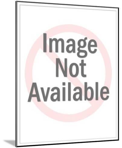Man Holding Big Sign-Pop Ink - CSA Images-Mounted Art Print