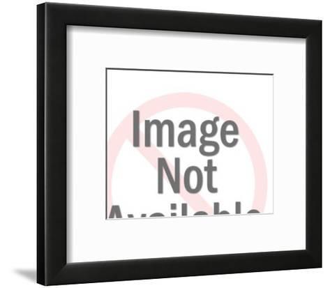 Man Holding Big Sign-Pop Ink - CSA Images-Framed Art Print