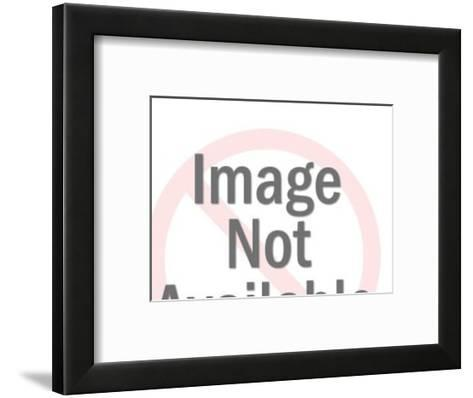 Earth with Blank Banner Around It-Pop Ink - CSA Images-Framed Art Print