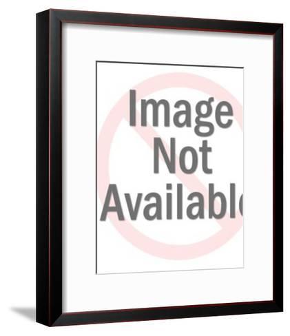 Hummingbird and Flower-Pop Ink - CSA Images-Framed Art Print