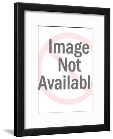 Girl Raising Her Hand-Pop Ink - CSA Images-Framed Art Print