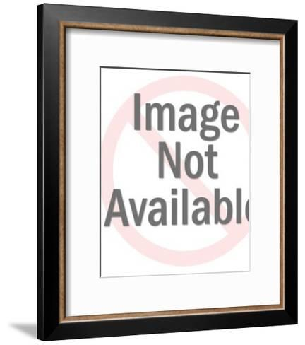 Smiling Dark Haired Woman-Pop Ink - CSA Images-Framed Art Print
