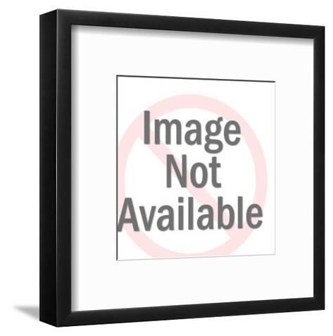 Dark Haired Woman Gesturing-Pop Ink - CSA Images-Framed Art Print