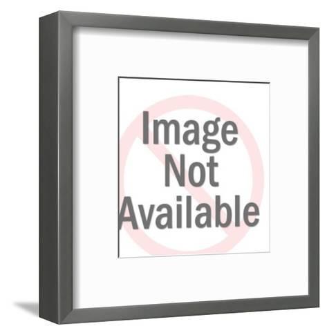 Smiling Pig Head-Pop Ink - CSA Images-Framed Art Print