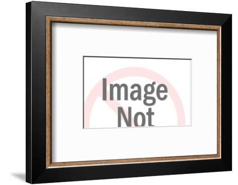 Man Gesturing and Singing-Pop Ink - CSA Images-Framed Art Print