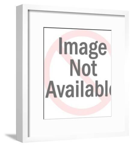 Woman Looking Sideways-Pop Ink - CSA Images-Framed Art Print