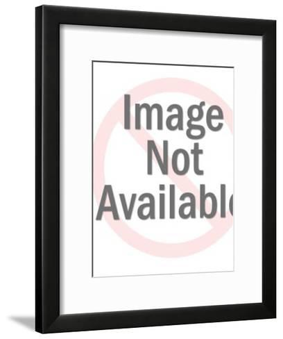 Man Wearing Party Hat-Pop Ink - CSA Images-Framed Art Print
