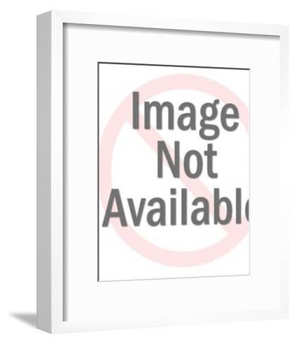 Man Using Electric Razor-Pop Ink - CSA Images-Framed Art Print