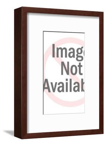 Woman Holding Gift-Pop Ink - CSA Images-Framed Art Print