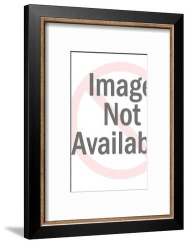 Silhouette of Man Carrying Record-Pop Ink - CSA Images-Framed Art Print