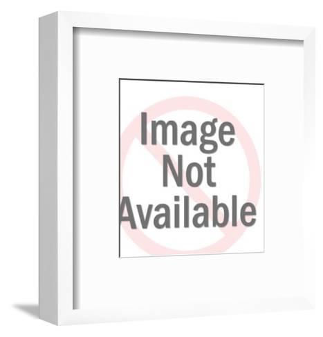 Dog Sticking Tongue Out-Pop Ink - CSA Images-Framed Art Print