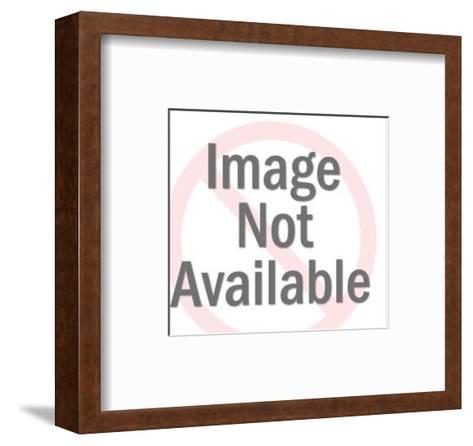 Man on Telephone-Pop Ink - CSA Images-Framed Art Print