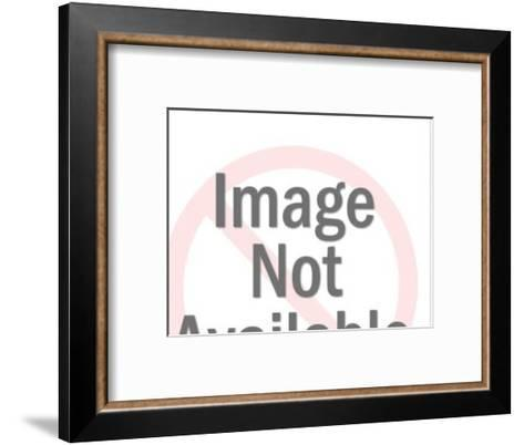 Bacon Pig Silhouette-Pop Ink - CSA Images-Framed Art Print