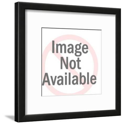 Man With Bolt of Fabric-Pop Ink - CSA Images-Framed Art Print