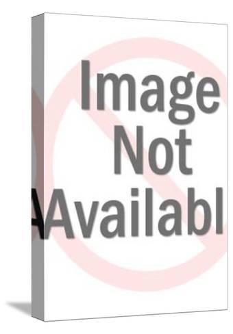 Black Cat-Pop Ink - CSA Images-Stretched Canvas Print