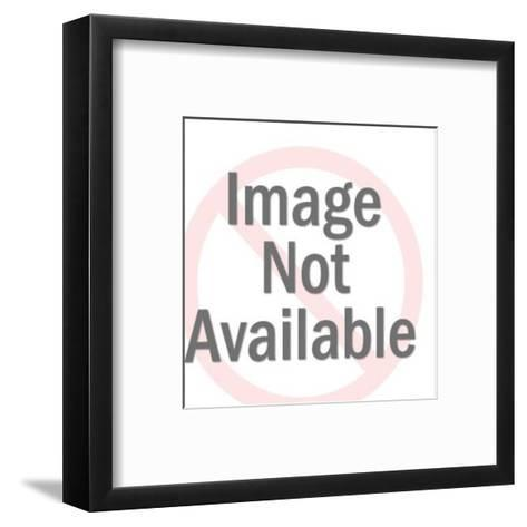 Donkey Holding Blank Sign-Pop Ink - CSA Images-Framed Art Print