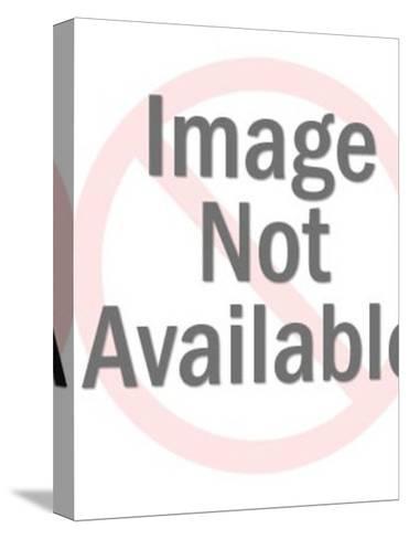 Santa Claus Waving-Pop Ink - CSA Images-Stretched Canvas Print