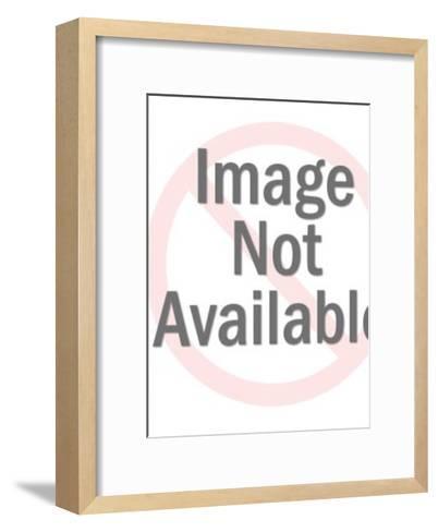 Woker in Garbage Can-Pop Ink - CSA Images-Framed Art Print
