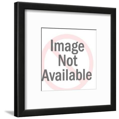Boston Terrier Portrait-Pop Ink - CSA Images-Framed Art Print